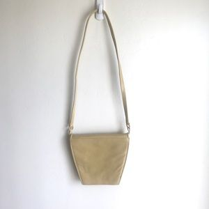 Charles Jordan Yellow Leather Shaped Bag Purse